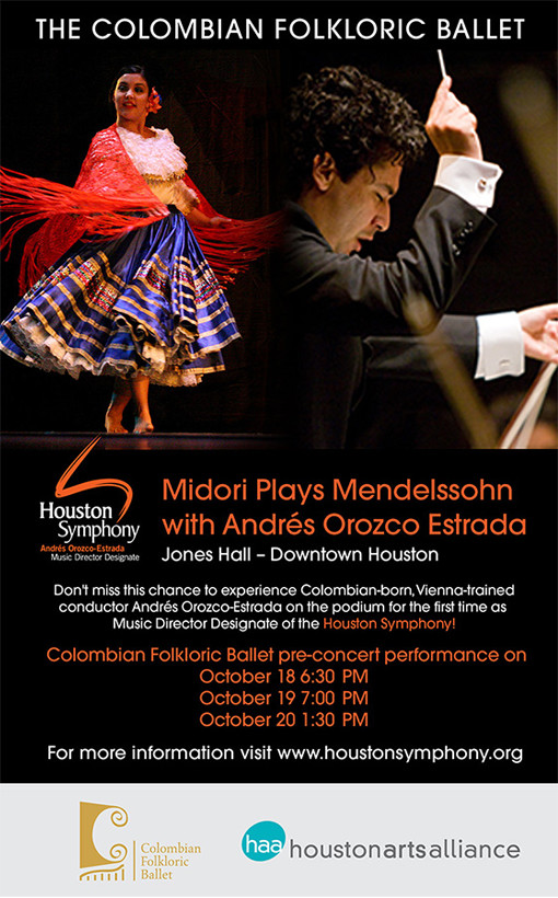 The Colombian Folkloric Ballet—Midori Plays Mendelssohn with Andrés Orozco Estrada Houston 2013