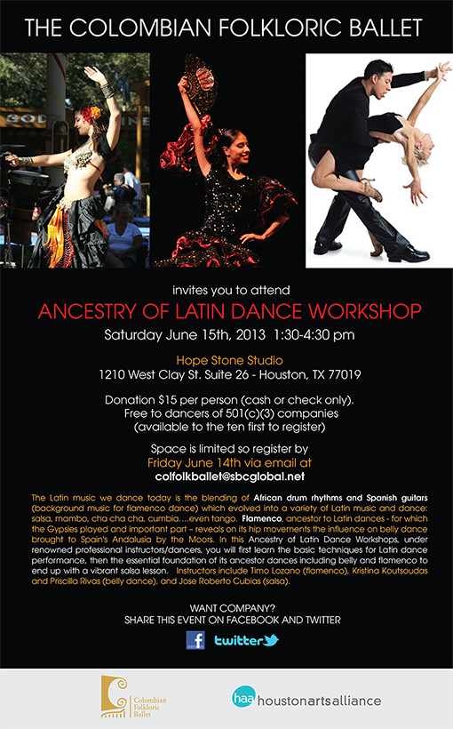 The Colombian Folkloric Ballet—Ancenstry of Latin Dance Workshop Houston 2013