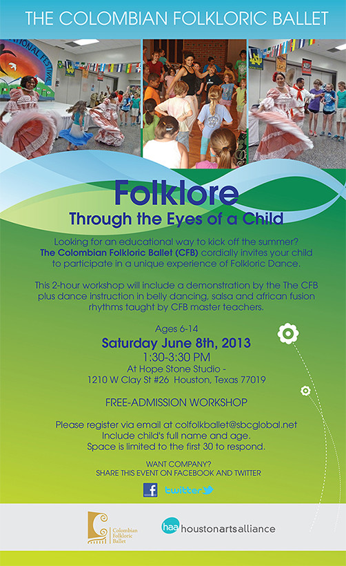 The Colombian Folkloric Ballet—Folklore Through the Eyes of Children Houston 2013