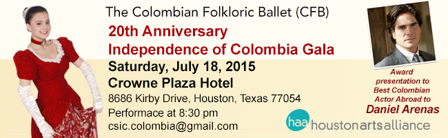 The Colombian Folkloric Ballet 20th Anniversary of Miss Colombia International Gala Houston 2015