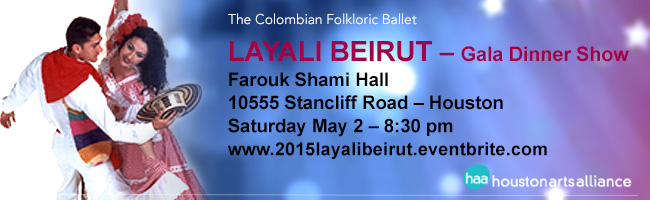 The Colombian Folkloric Ballet Nayali Beirut Gala Dinner Show Houston 2015