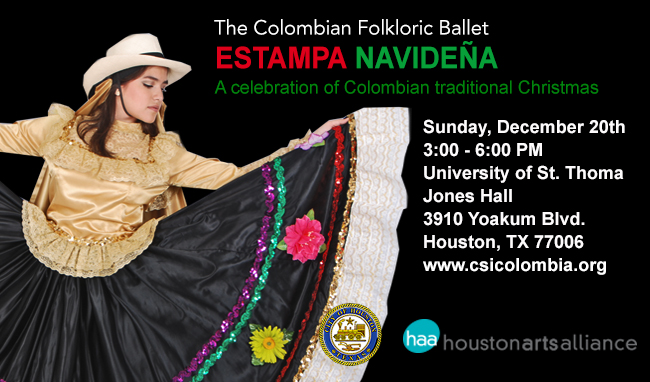 The Colombian Folkloric Ballet Estampa Navidena A celebration of Colombian tradional christmas Houston 2015