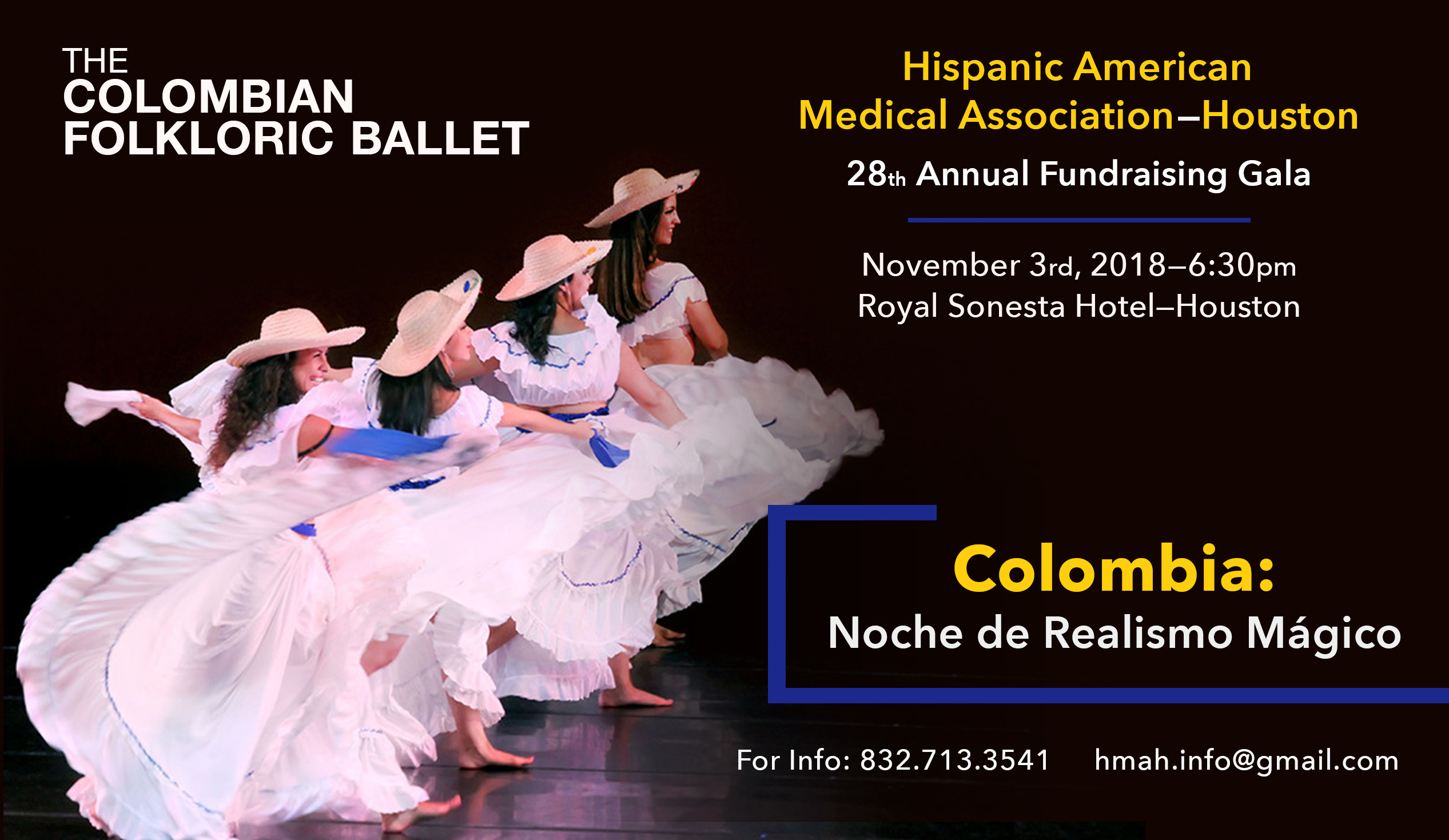 The Colombian Folkloric Ballet. Colombia: Noche de Realismo Mágico. Hispanic American Medical Association—Houston 28th Annual Fundraising Gala